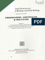 National Seminar on Environmental Biology and Fish Biology