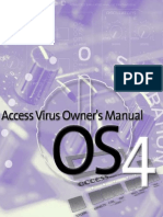 Access Virus B Owner's Manual