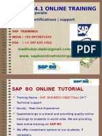 SAP HANA Online Trainings