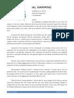 Global Warming PMI Dosen _ Print