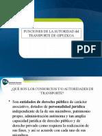 Funciones Autoridad Transporte Gipuzkoa