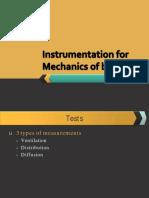 Instrumentation for Mechanics of Breathing
