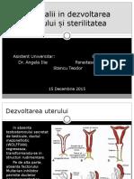 Embriologie Anomalii in Dezvoltarea Uterului Si Sterilitatea