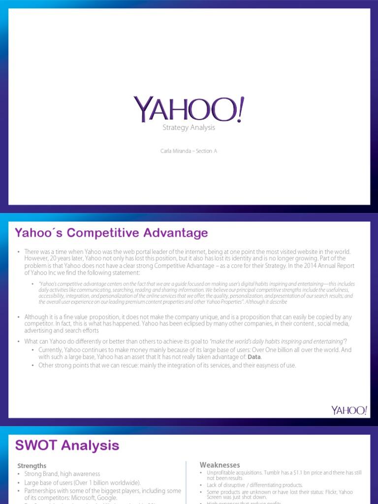 yahoo competitors analysis