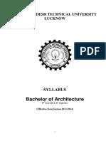 Barch II Yr Syllabus 2014
