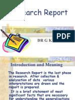 Preparing Research Report