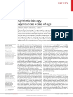 Synthetic Biology, Applications Come of Age