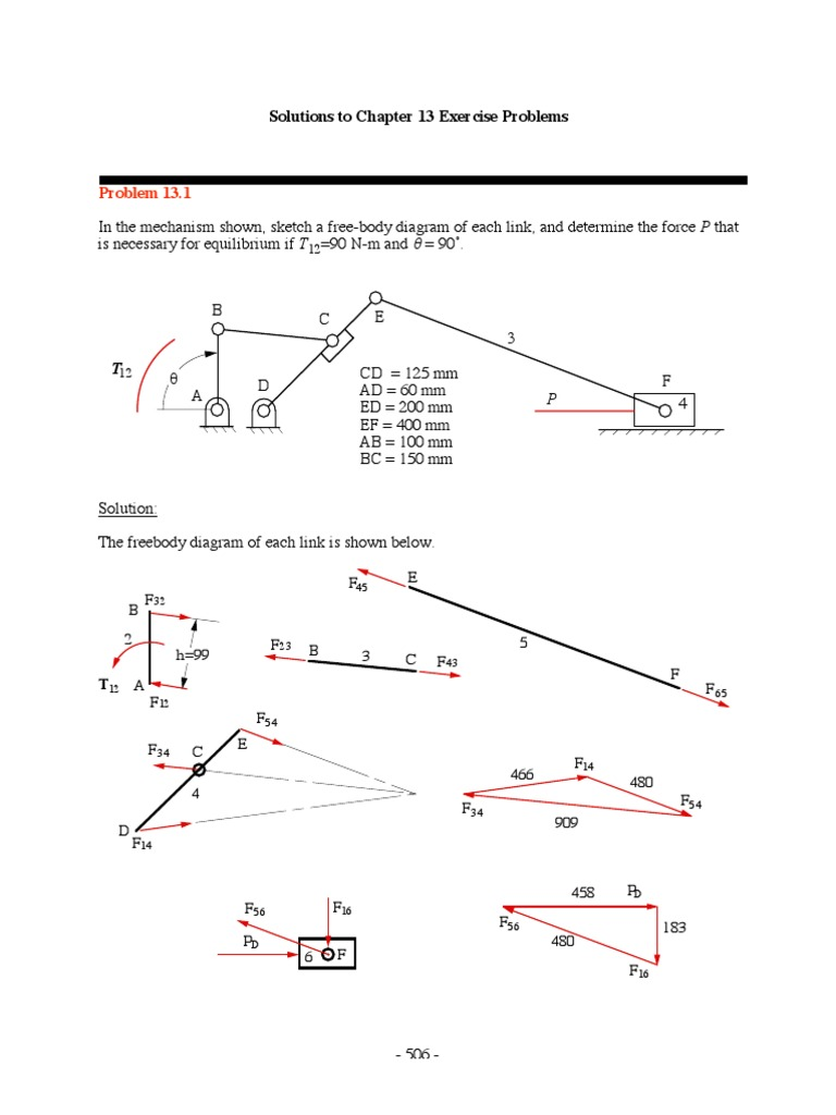 solution manual kinematics and dynamics gear force rh fr scribd com mechanisms and dynamics of machinery solution manual pdf mabie