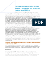 Adapting Mathematics Instruction in the General Education Classroom for Students With Mathematics Disabilities