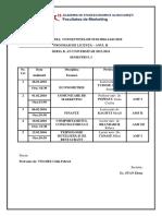 Planificarea Examenelor-Anul II. Sem I. Seria B