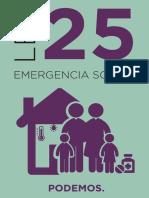 Propuesta Ley 25 de emergencia Social