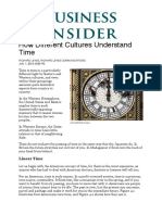 How Different Cultures Understand Timensider (How Different Cultures Understand Time)