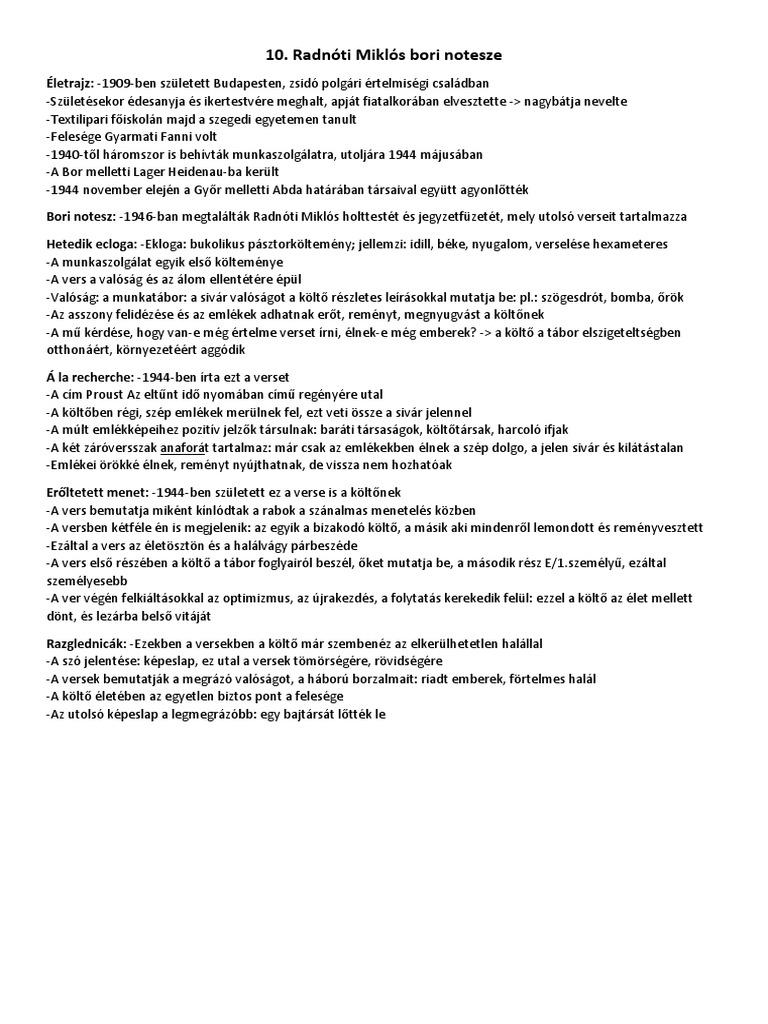 10. Radnóti Miklós Bori Notesze fee2d71f7c