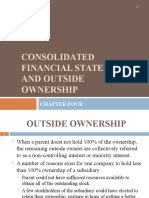Chapter 4 - Consolidated Financial Statements and Outside Ownership