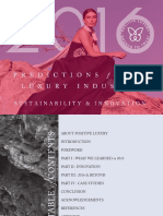2016 Predictons for the Luxury Industry in Sustainability and Innovation - The Executive Summary