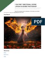 Vfxmaximum.com-create Wings on Fire Emotional Scene Photo Manipulation in Adobe Photoshop