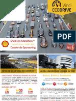 Vinci EcoDrive dossier sponsoring Shell Eco-Marathon 2016