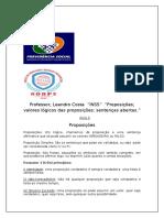 INSS Lógica Matemática PROPOSIÇÃO