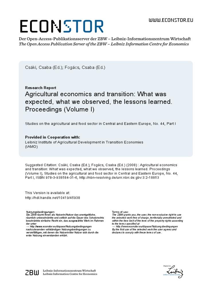 PDF The Macroeconomics of Transition: Developments in East