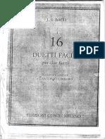 J.S. Bach 16 Duetti facili per 2 Flauti