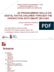 Developing programming skills on digital native children through the interaction with smart devices (Apresentação)