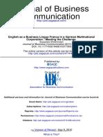 English as a Business Lingua Franca