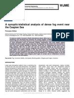 A synoptic/statistical analysis of dense fog event near the Caspian Sea
