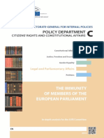 The Immunity of the Members of EU Parliament in Depth Analysis