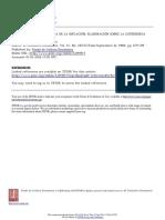 La Matriz Social y Política de La Inflación Elaboración Sobre La Experiencia Latinoamericana