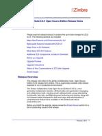 Zimbra OS Release Notes 6.0.5