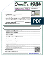 Orwell's 1984 Summary (Video SparkNotes) worksheet