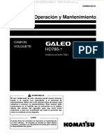 Manual Operacion Mantenimiento Camion Volquete Minero Galeo Hd785!7!7001 Komatsu