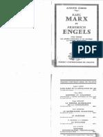 Auguste Cornu, Karl Marx Et Friedrich Engels - Tome I