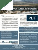 CAMBIO DE ZONIFICACIÓN DE TERRENOS
