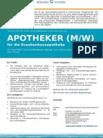 APOTHEKER (M/W) für die Krankenhausapotheke