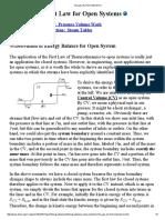 1st Law of Thermodynamics
