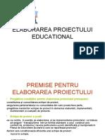 Elaborarea Proiectului Educational