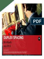 Duplex Spacing Motorola