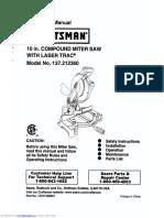 Craftsman 10'' Compound Miter Saw Manual