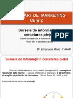 Studenti - Curs 3 - Cercetări de Marketing