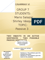 Two Objects in an Active Sentences - Presentation