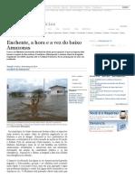 Enchente, A Hora e a Vez do Baixo Amazonas-Notícias-Acritica