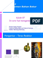 Kuliah-07 in-core Fuel Management