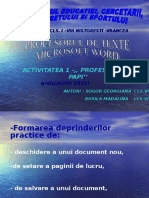 Procesorul de Texte