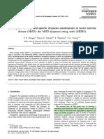 Development of a Patient-specific Dyspnea Questionnaire in Motor Neuron Disease (MND)