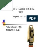 Esatcion Total - Leica TC605L.pdf