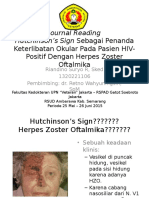 Hutchinson Sign as Marker of Ocular Involvement in HIV Positive Patients With HZO