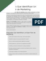Preguntas Que Identifican Un Buen Plan de Marketing