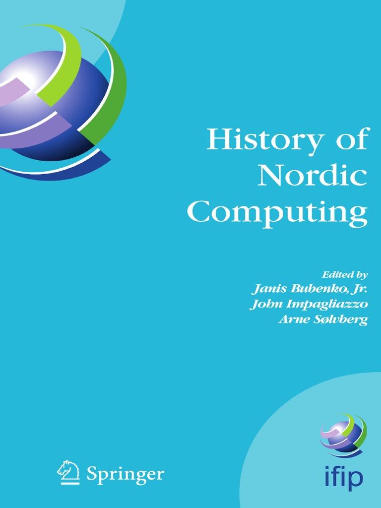 separation shoes 56450 b106e HISTORY OF NORDIC COMPUTING   Nordic Countries   Computing