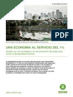 Una Economia al Servicio del 1%